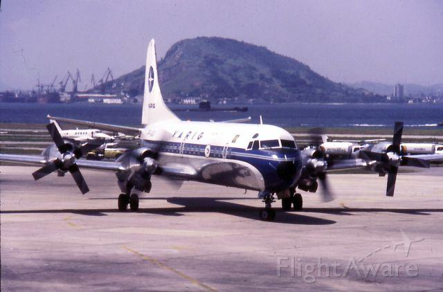 "Lockheed L-188 Electra (PP-VLC) - Used for ""Ponte Aerea"" (Sky Bridge) flights Rio to Sao Paulo"