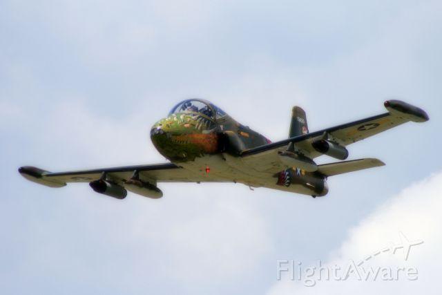 HUNTING PERCIVAL P-84 Jet Provost (N2146J) - BAC 167 Strikemaster overflying Lebanon, TN (M54)