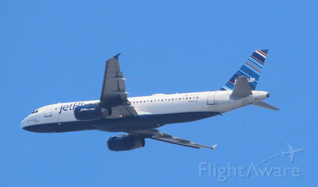 Airbus A320 (N639JB) - Just after take-off heading east over Daytona Beach