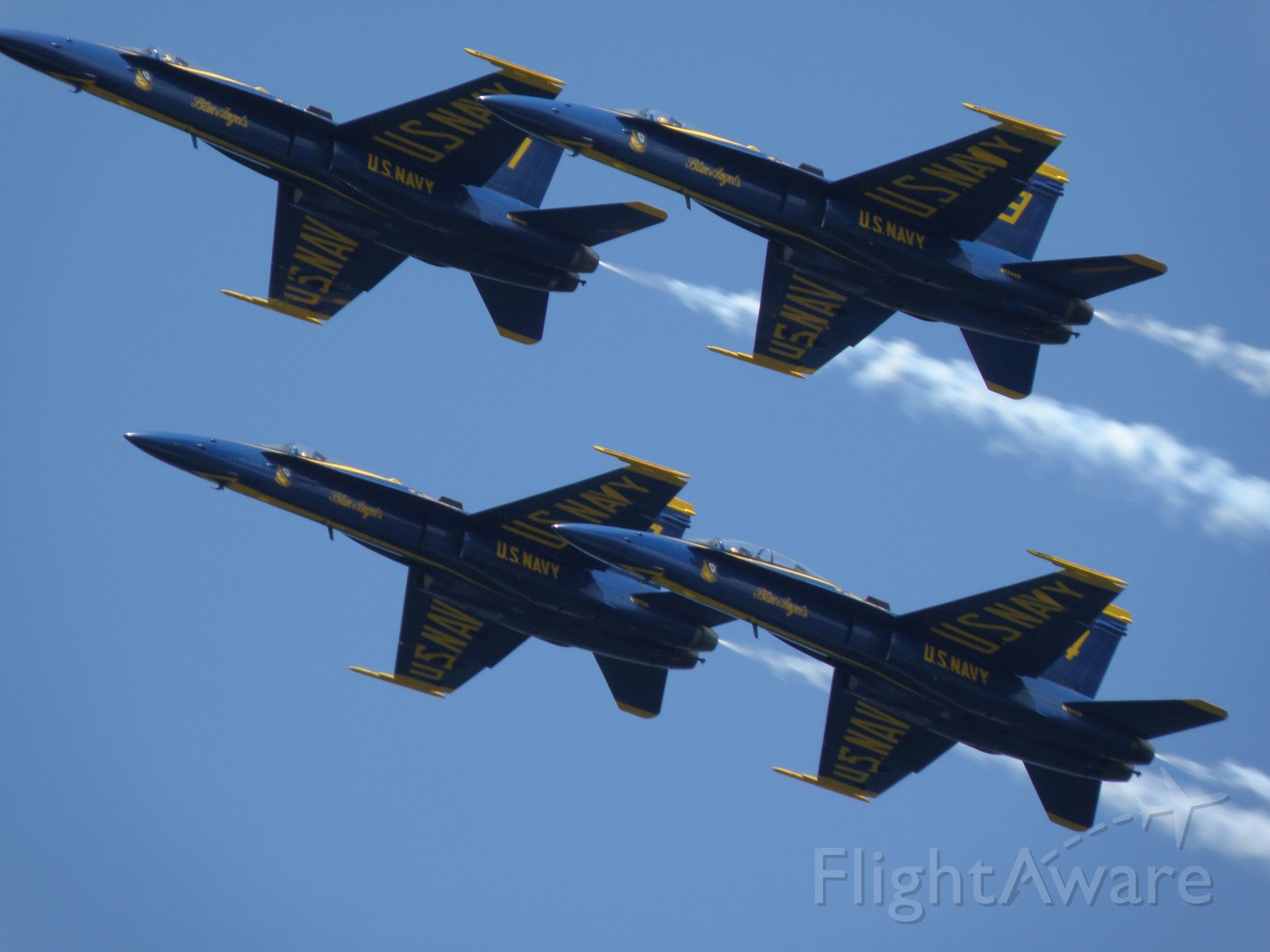 McDonnell Douglas FA-18 Hornet — - Blue Angels over the Severn River at the Naval Academy, Annapolis.  19 May 2015.