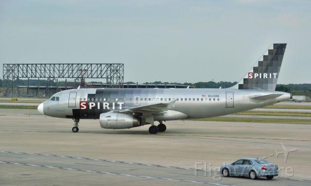 Airbus A319 (N528NK) - Spirit Airlines Airbus A319-132 N528NK in Detroit