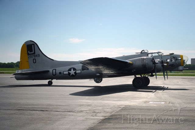 Boeing B-17 Flying Fortress (N390TH) - Liberty Belle parked at Wheeler Downtown Airport in Kansas City, MO. This picture was taken on May 22, 2011. This aircraft crashed on June 13, 2011 and was a total loss.