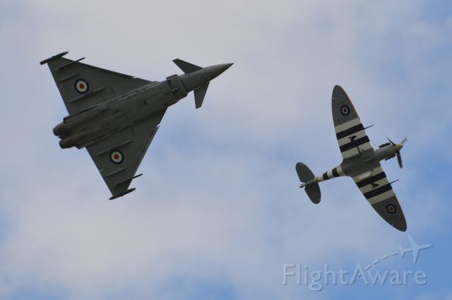 MULTIPLE — - Typhoon and Spitfire formation at Duxford airshow 19 Sep 2015