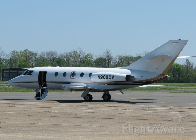 Dassault Falcon 20 (N300CV) - Parked at the Shreveport Downtown airport.