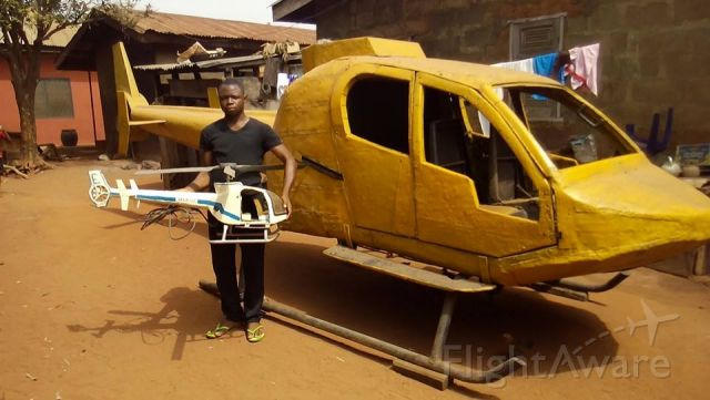 — — - A young Nigerian in Kogi State Manufactured Helicopters.Will these ever lift up and fly?