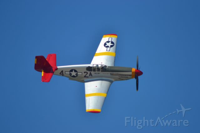 North American P-51 Mustang (AEH61429) - The REDTAIL of the CAF conducting a fly-by during the 2019 Sioux Falls Airshow