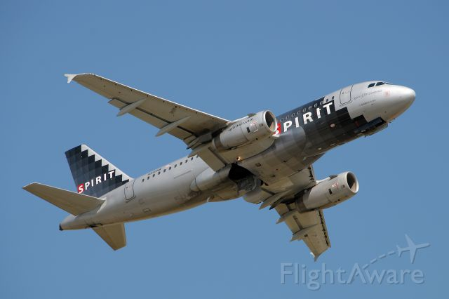 Airbus A319 (N510NK) - Departing KDTW from runway 21R.