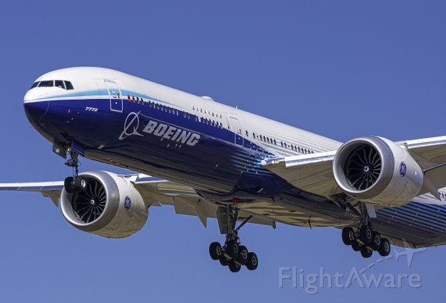 BOEING 777-9 (N779XW) - BOE001 landing at Spokane International on Sept. 1st 2020