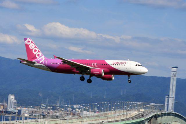 Airbus A320 (JA813P) - Peachの24L降りです
