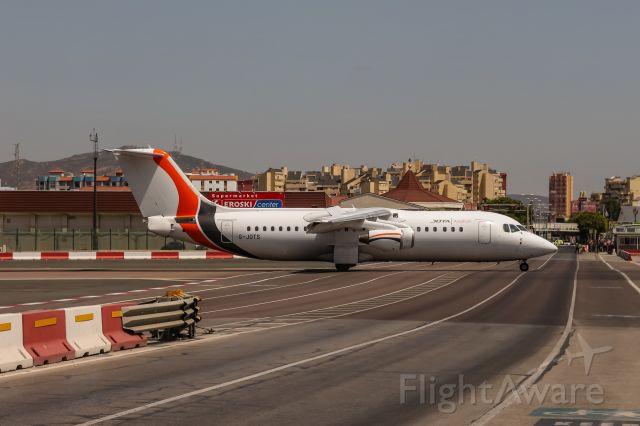Avro RJ-100 Avroliner (G-JOTS) - G-JOTS JOTA Aviation British Aerospace Avro RJ100 coming in from Southend (SEN) due to the Island Games 2019 @ Gibraltar (GIB/LXGB) / 13.07.2019 - Runway18.de