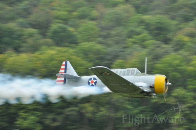 N51531 — - North American SNJ-3 at Lee Bottom Aviation Migration 9/19/15,