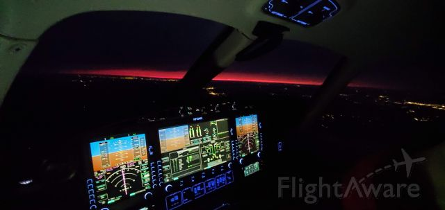 Eclipse 500 (N712WG) - Red Sunset in Arkansas