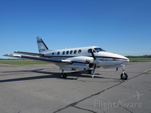 Beechcraft King Air 90 (N77PF) - Very nice King Air 100 with P&W turbines. Not many around.