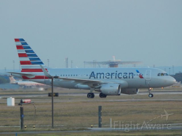 Airbus A319 (N9018E) - N9018E taxiing to maintenance at KDFW
