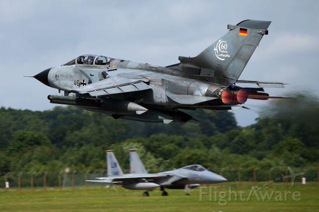 — — - Full burners as this Luftwaffe Tornado departs RAF Fairford.