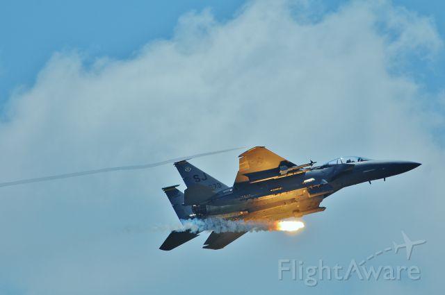 — — - F-15 at Seymour Johnson Air Force Base at the Wings over Wayne Air Show 2015