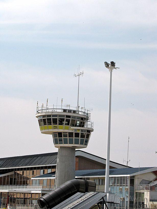 — — - the tower of Windhoek International Airport