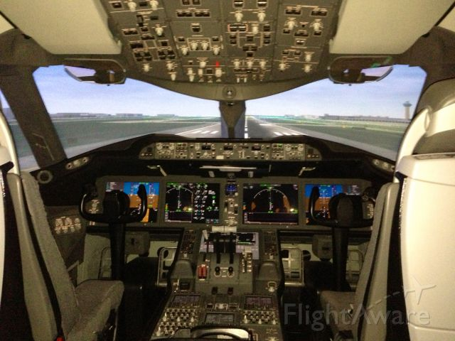 Boeing 787-8 — - Inside a Boeing787 Simulator