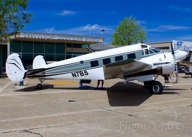 Beechcraft 18 (N7BS) - At Downtown Shreveport. 1954 Beech E18S