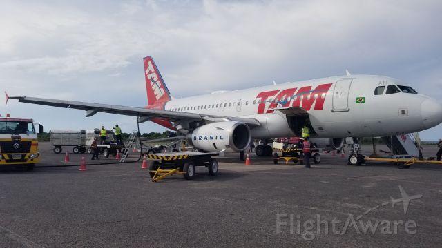 Airbus A319 (PR-MAN) - Just after landing at Santarem, Para State, Brazil on 10/20/2019.