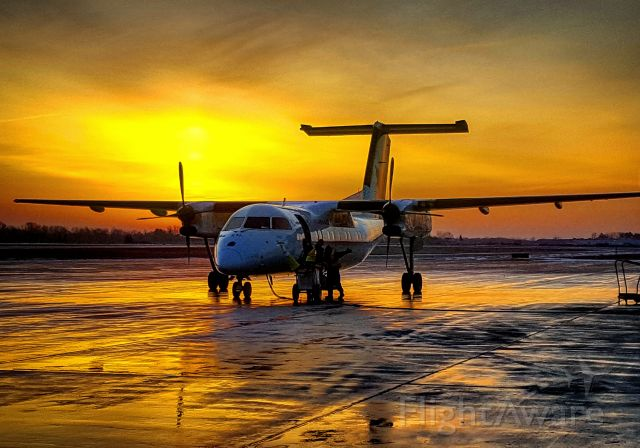 — — - Beautiful Winter sunrise with Jazz flight 8640