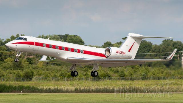 Gulfstream Aerospace Gulfstream V (N599H) - One of Honeywell's G550s departing Butler County Regional's runway 29.