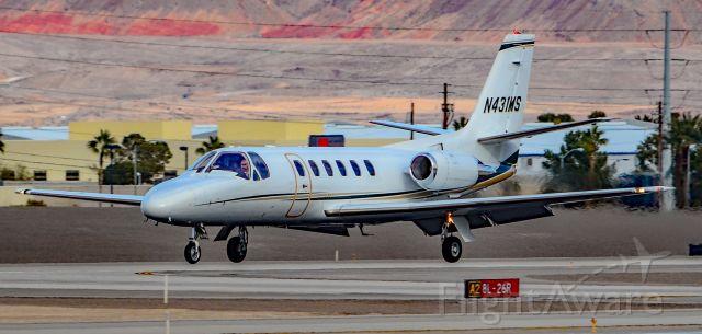 Cessna Citation II (N431MS) - N431MS 1987 Cessna S550 Cessna Citation II s/n S5500127 - McCarran International Airport (KLAS)<br />Las Vegas, Nevada<br />Photo: TDelCoro<br />January 11, 2019