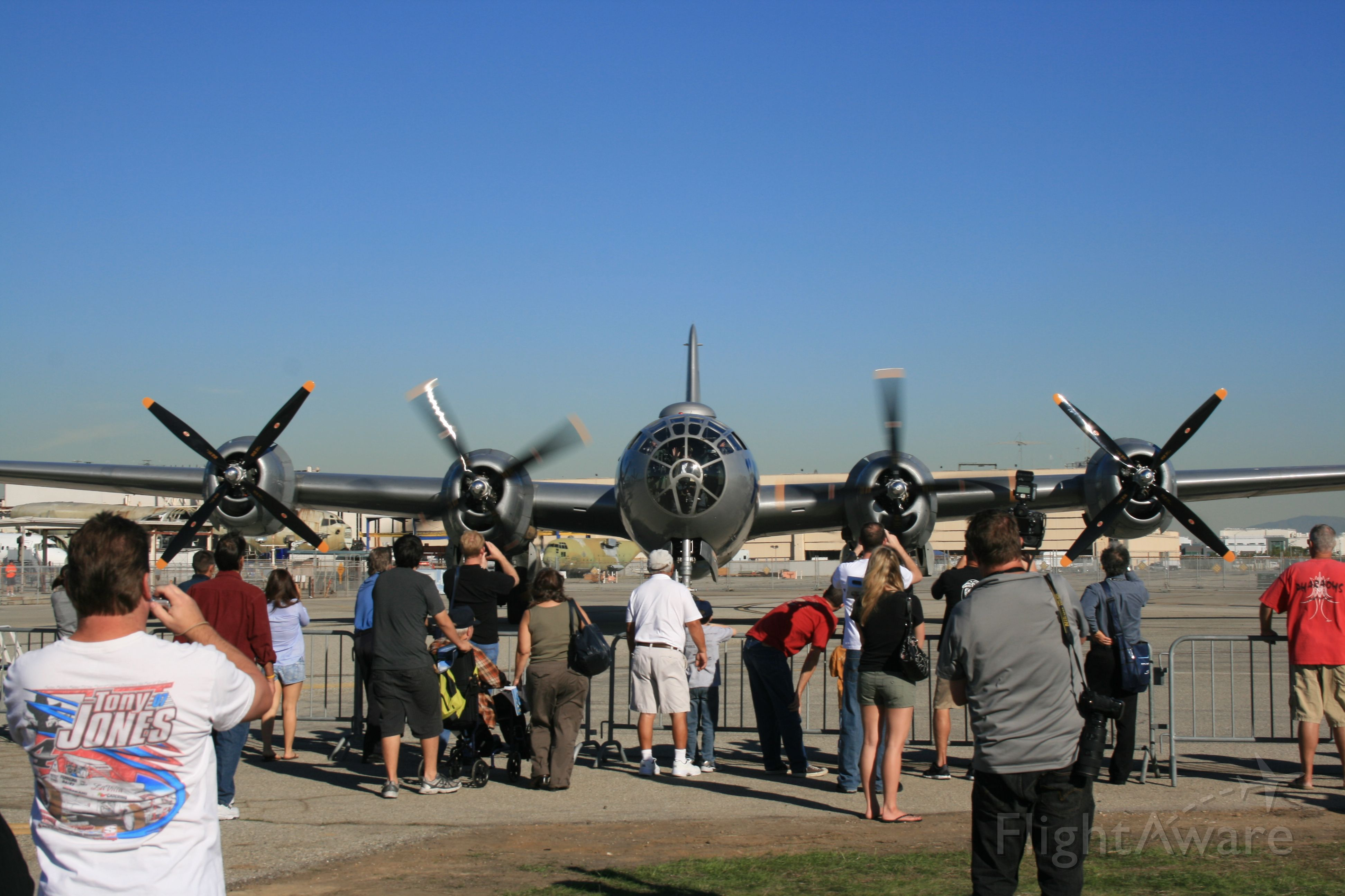 """Boeing B-29 Superfortress — - B-29 """"FiFi"""" arriving at Long Beach for AOPA Airport Fest"""