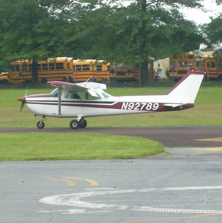 Cessna Skyhawk (N92789) - Slowing down on runway 5 at the Doylestown Airport in Pennsylvania. My dad and brother also went in that plane for a ride at the annual open house at the airport. The open house is one a year only. So if I were you, I would find out when it is and be there. :)   :) :) :)