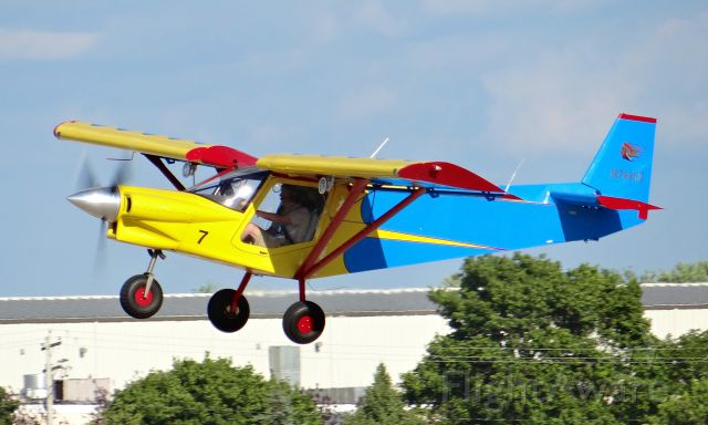 Experimental 100kts-200kts (N742SE) - A colorful experimental airplane departing at EAA AirVenture 2015!