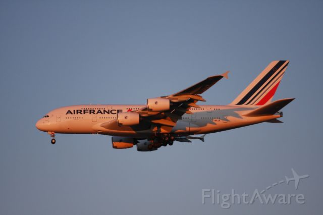 Airbus A380-800 (F-HPJA) - on final to 31L at KJFK on a cold January evening