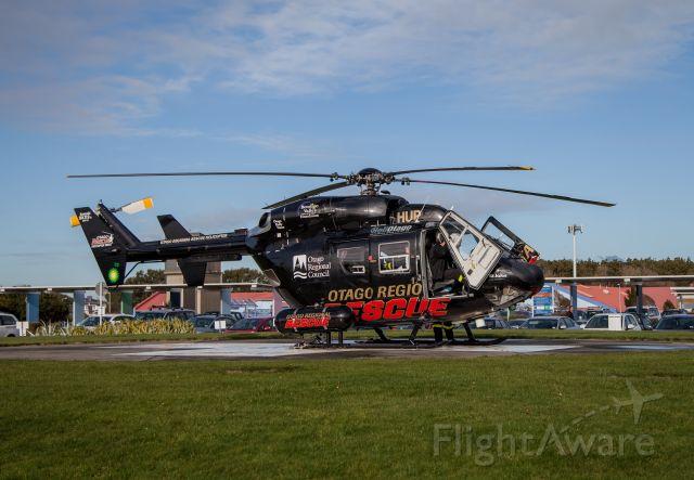 NUSANTARA NBK-117 (ZK-HUP) - ZK HUP Kawasaki BK-117 B-2  Otago Regional Rescue leaves Invercargill Hospital for Dunedin Hospital, New Zealand 28 June 2016