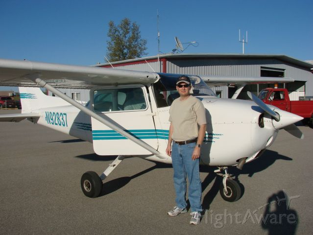 Cessna Skyhawk (N92837) - A photo of me standing next to a Cessna 172.  I had just returned from my first flight lesson in this aircraft.