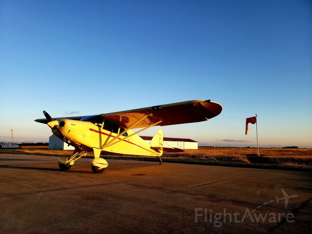 Piper PA-20 Pacer (N7413K) - Flying the new bird home and had to make a stop for the night. The sunset was absolutely stunning.