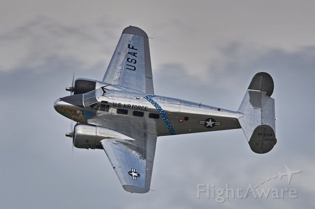 """OK-BSC — - Beech C-45 """"Southern Comfort"""" during majestic display at Antidotum Air Show 2020"""