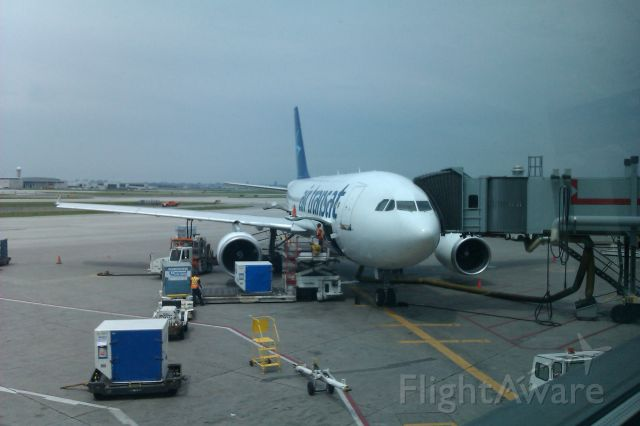 Airbus A330-300 (C-GTSD) - Air Transat flight 199 EGPF to CYYZ loading before boarding and departure.  June 17, 2012.