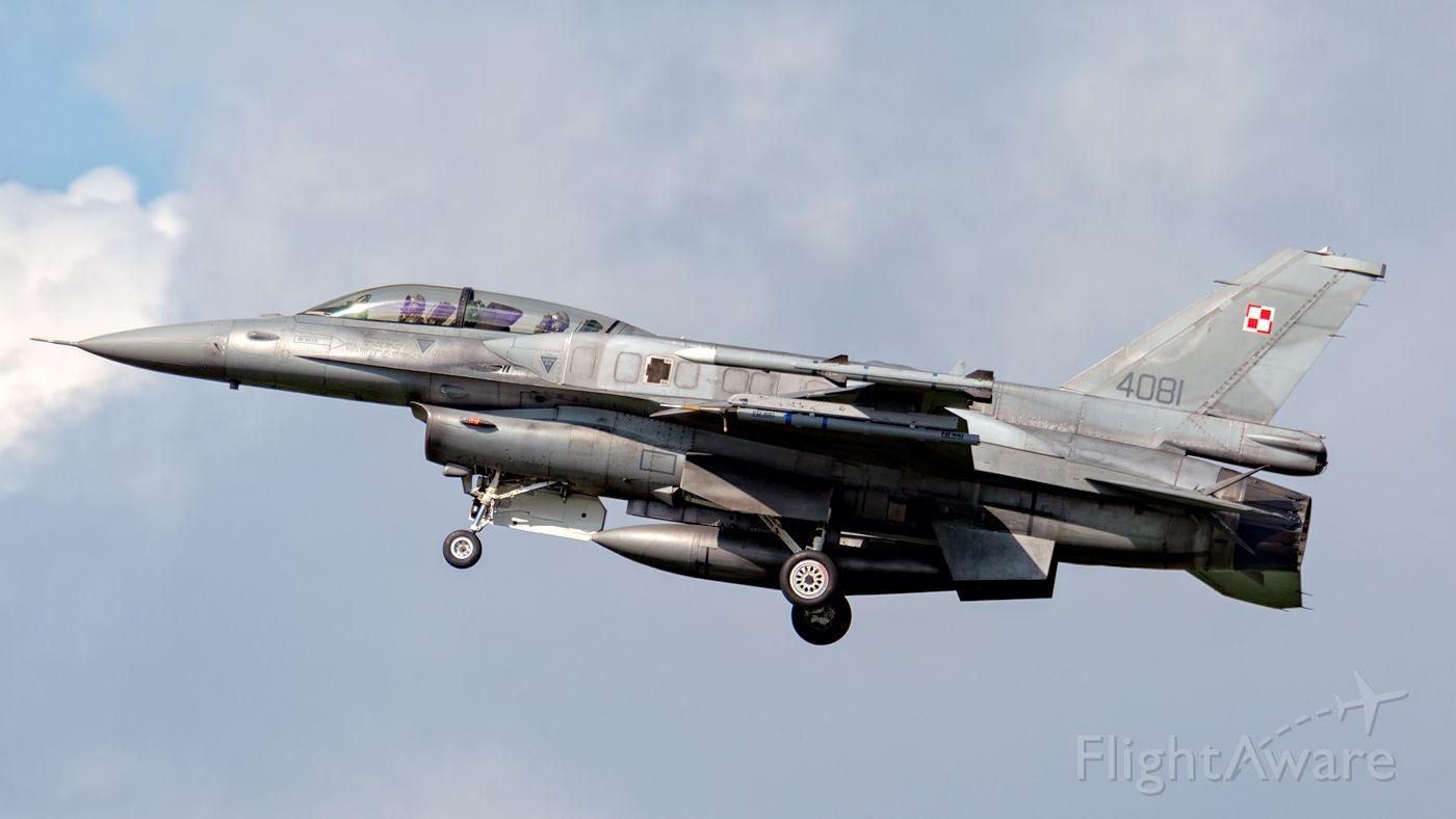 Lockheed F-16 Fighting Falcon (PAF4081) - 21.08.19 Krzesiny Airbase - Poland.