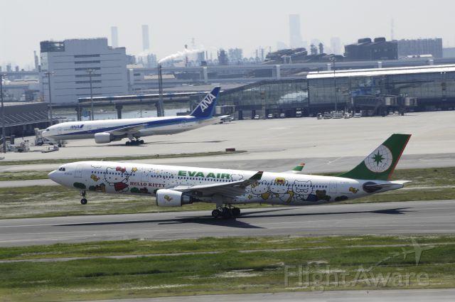 "Airbus A330-300 (B-16331) - Takeoff at Haneda Intl Airport Rwy16r on 2013/05/05 ""Hello Kitty Happy Music c/s"""