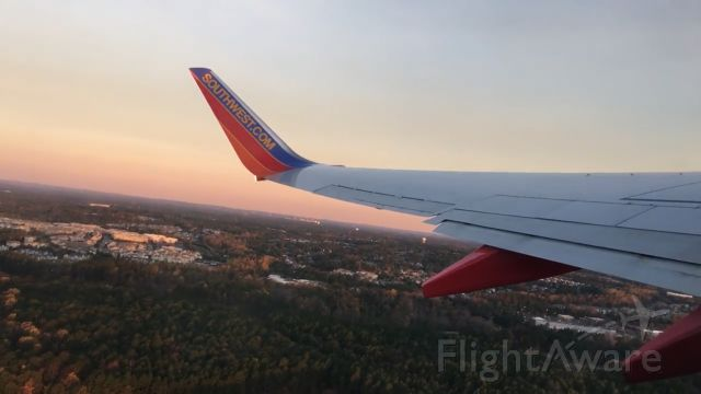 Boeing 737-700 (N7747C) - Climbing out of Raleigh for Atlanta on a beautiful morning on November 11, 2017.