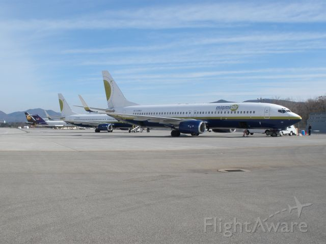 Boeing 737-700 (N734MA) - Busy day on the freight ramp as a total of 4 737s came in to pick up VT for ACC Championship game.