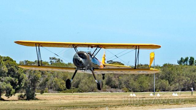 Boeing PT-17 Kaydet (VH-PJS) - VH-PJS Boeing Stearman PT-17 A75L300 code 911 Serpentine airfield 271019.