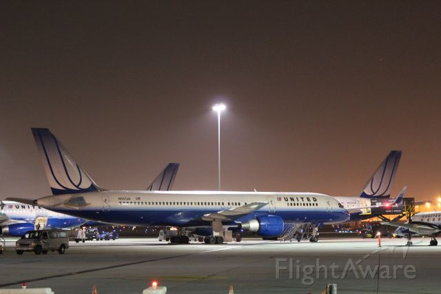 N557UA — - United Airlines 757 at LAX.