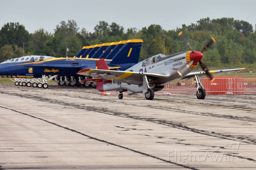 North American P-51 Mustang — - Thunder Over Michigan 2017 arrivals