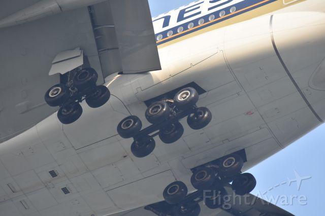 Airbus A380-800 (9V-SKU) - Arrival, Singapore Airines, RWY 20R, Changi, Singapore. 8 Sep 2019.