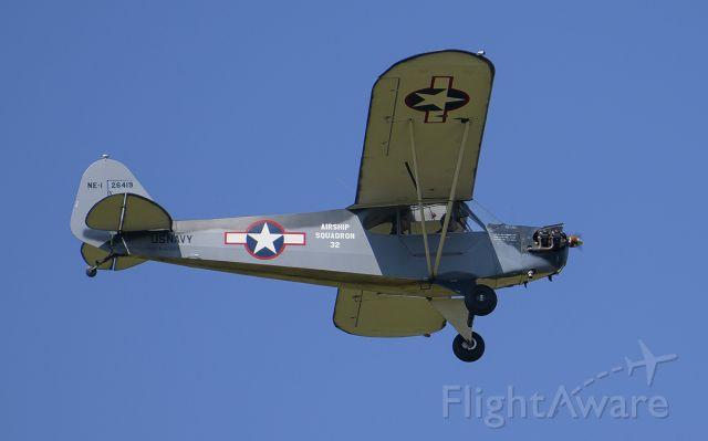 Piper L-14 Cub Cruiser (N42869) - Runway 02L arrival @KDPA.