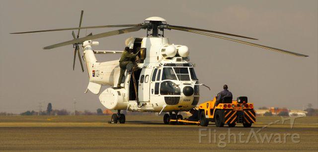 WESTLAND Puma (1224) - 17 Squadron aircraft returning from a demonstration flight.