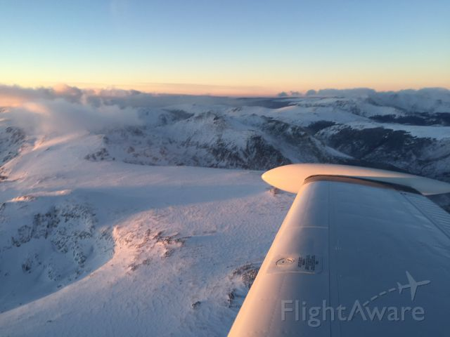 Beechcraft Bonanza (36) (N4203S) - On the way to Vail, CO over the Rockies in a 1976 A36