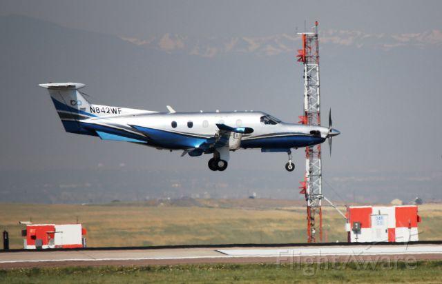 Pilatus PC-12 (N842WF) - Arrival 34R.