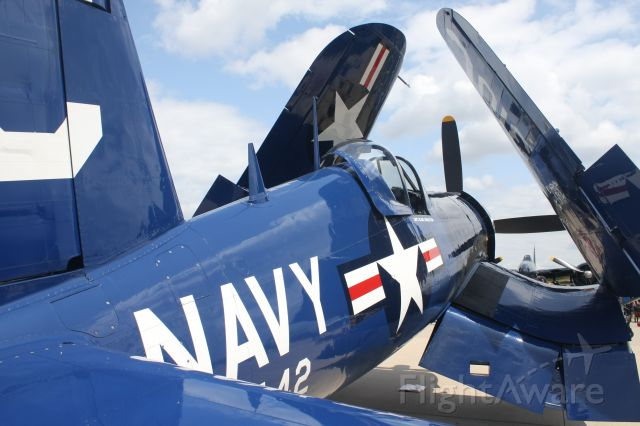 VOUGHT-SIKORSKY V-166 Corsair (AMU72378) - Tail view of a beauty.........