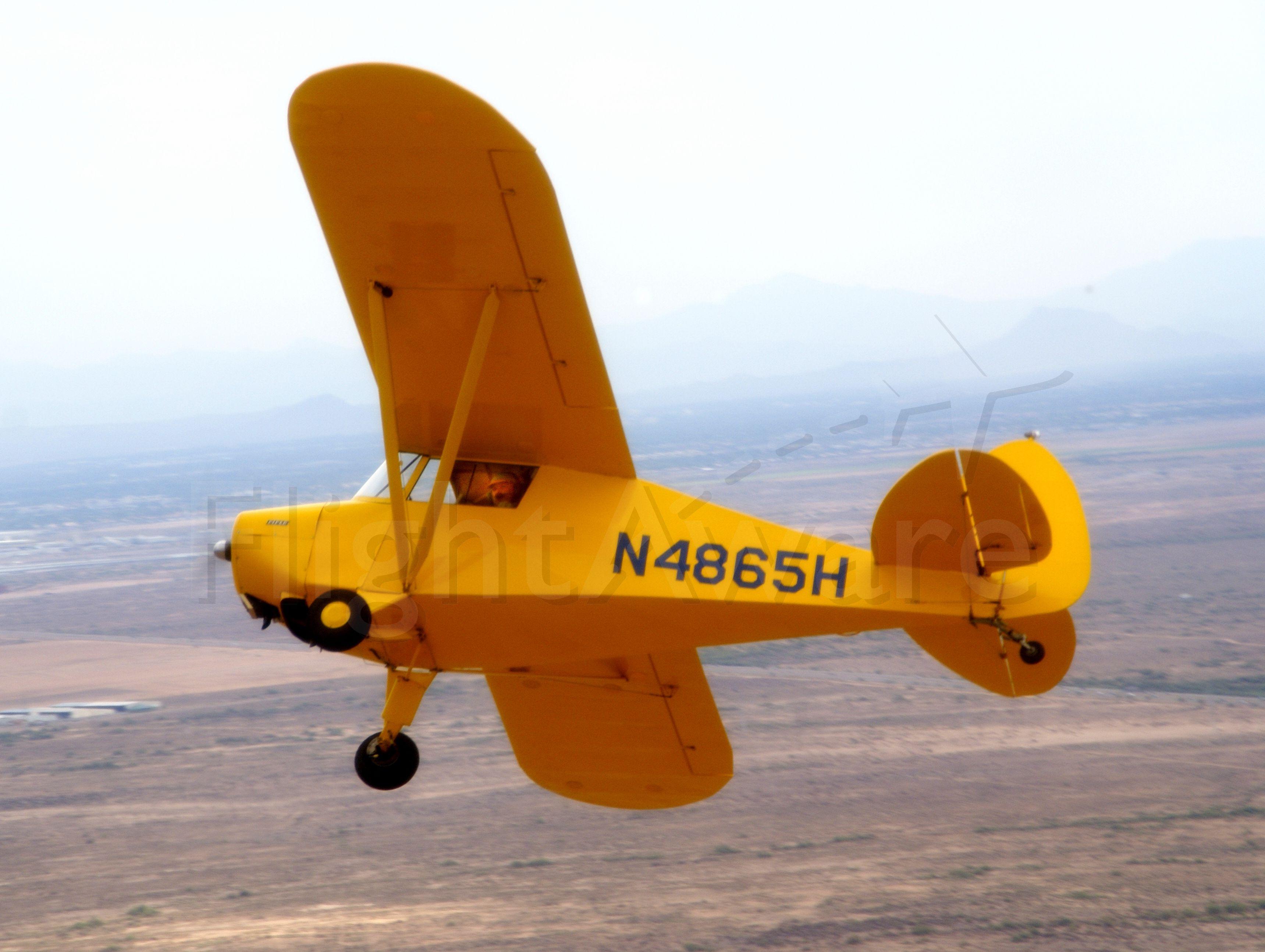 Piper PA-17 Vagabond Trainer (N4865H) - 1948 PA-17 over Maricopa, AZ